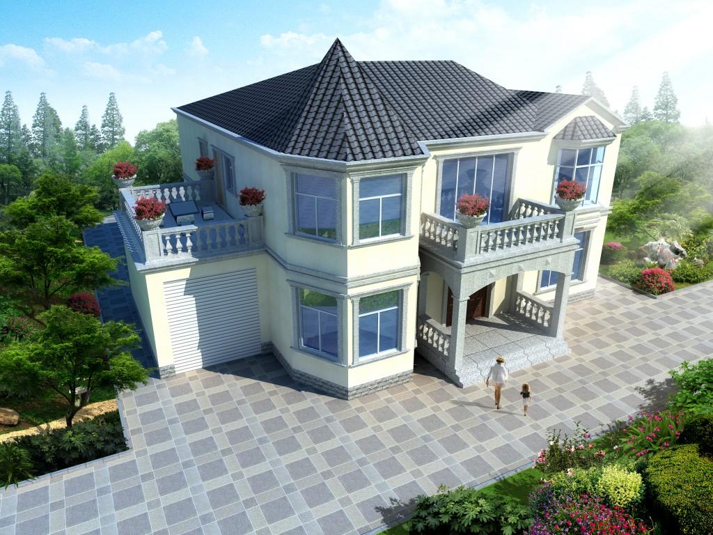 欧式别墅建筑效果图制作